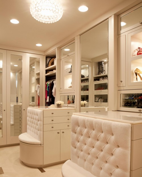 Hollywood Glam Closet And Dressing Room.