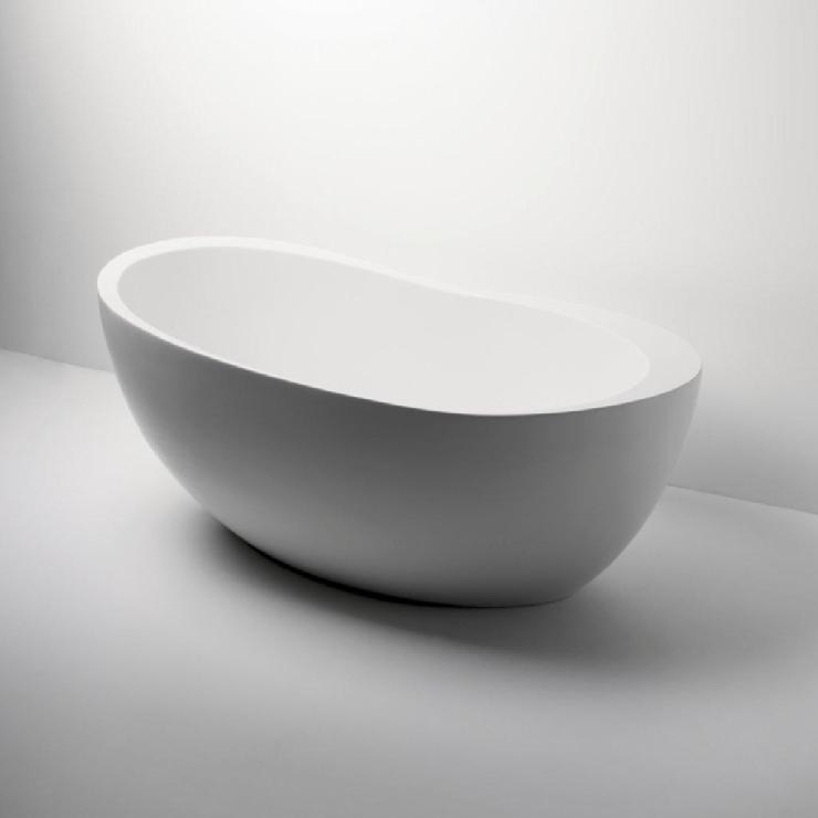 Freestanding oval bathtub 70 for Knief tubs