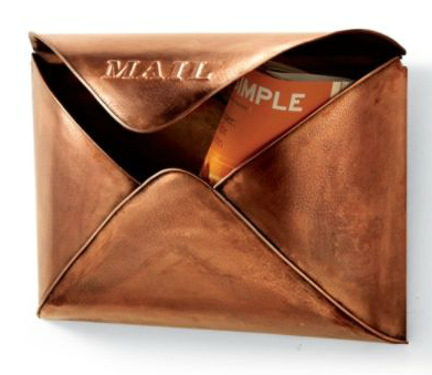 Grandin Road Copper Envelope Wall Mailbox Look4less