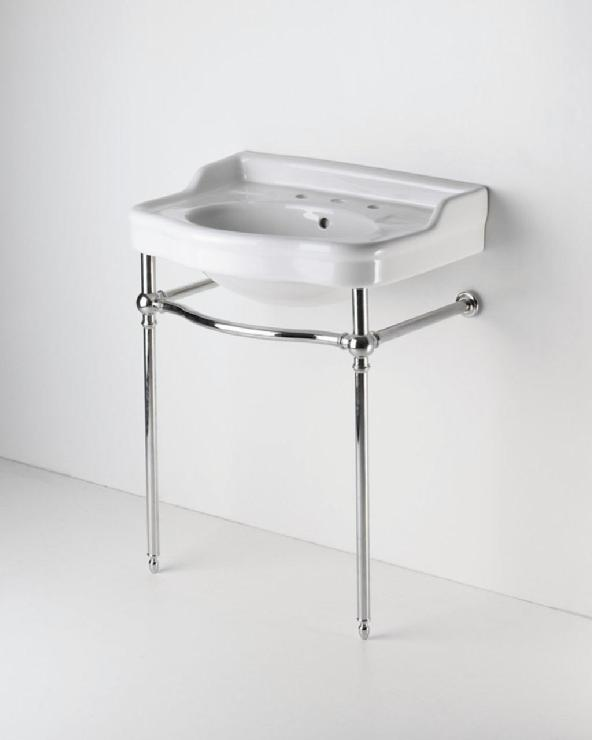 Bathroom Sinks With Legs metal square five leg double washstand 57