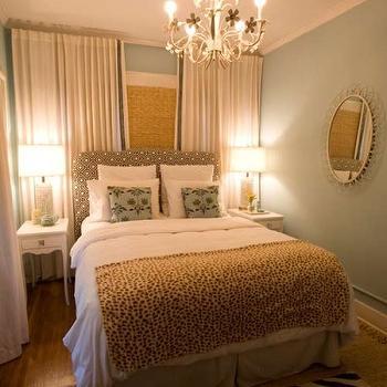 Headboard in Front of Window, Contemporary, bedroom, Turquoise LA