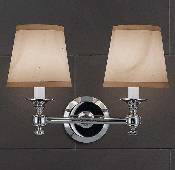 Bathroom Wall Sconces Restoration Hardware : Campaign Double Sconce - Bath Sconces - Restoration Hardware