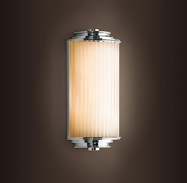 Wall Sconce Lighting Images : Meridian Demi Sconce - Chandeliers - Restoration Hardware