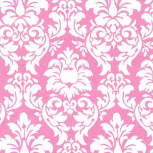 Pink And White Damask Fabric Fabrics Childrens Girls