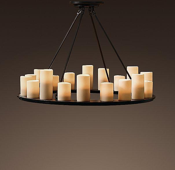 Candle Round Medium Chandelier - Chandeliers - Restoration Hardware