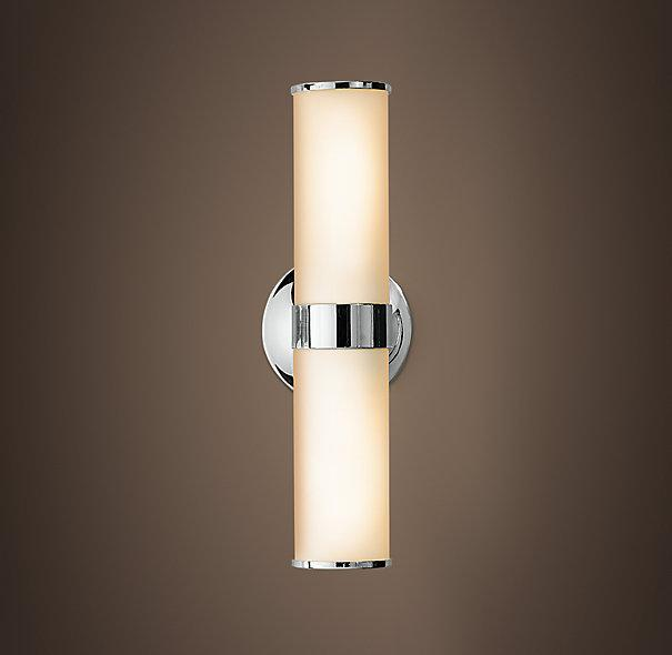 Bathroom Tube Sconces sussex double tube sconce - pottery barn