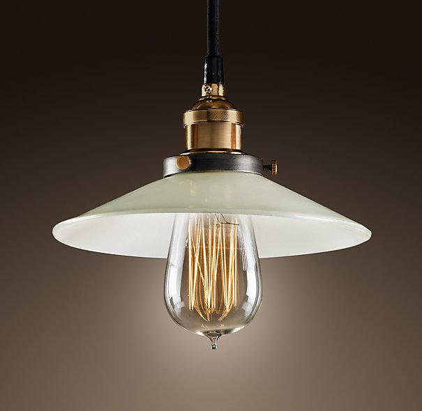 milk glass filament pendant ceiling restoration hardware