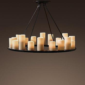 Pillar Candle Rectangular Medium Chandelier Chandeliers