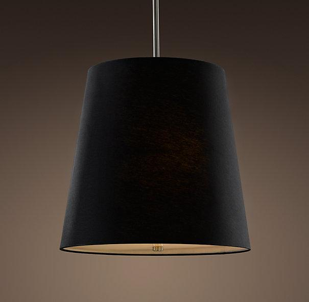 Barrel Shade Pendant Black Linen Pendants Restoration