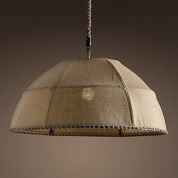 Burlap Dome Pendant, Pendants, Restoration Hardware