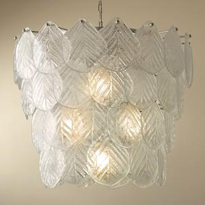 murano leaf chandelier by global views