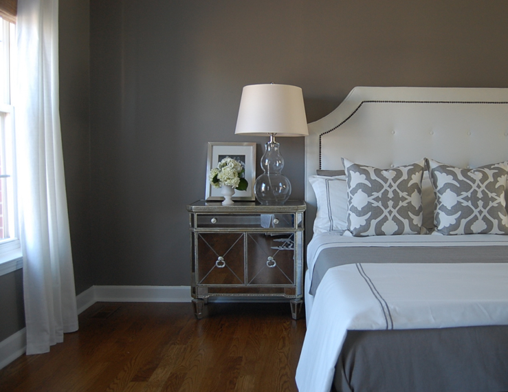gray bedroom rich creamy gray walls paint color restoration hardware