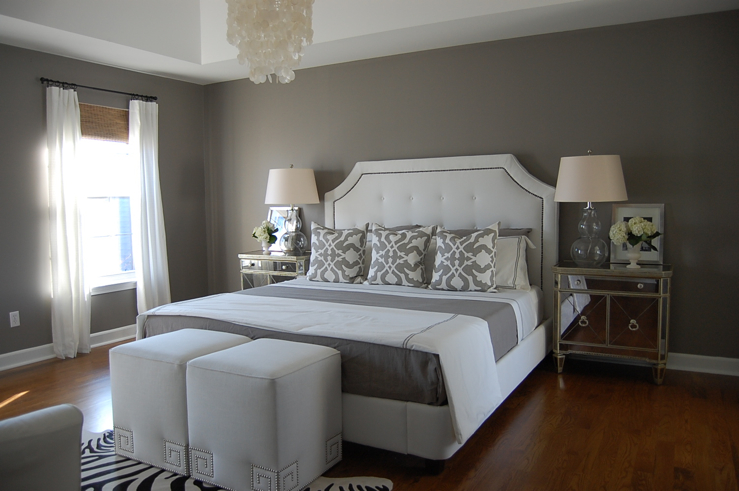 Gray Bedroom - Contemporary - bedroom - Benjamin Moore Galveston Gray