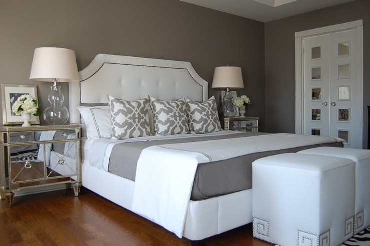 Gray Bedroom Contemporary Benjamin Moore