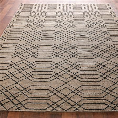 Laced Links Dhurrie Rug: 2 Colors   Shades Of Light