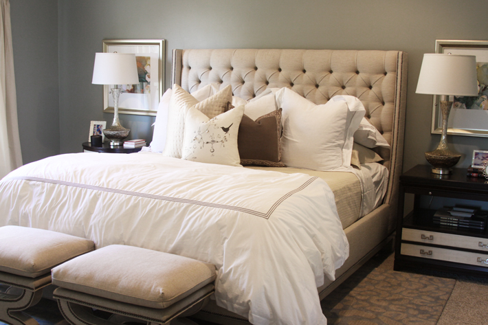 White Wingback Headboard Design Ideas