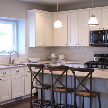 White Granite Countertops, Transitional, kitchen, Alice Lane Home