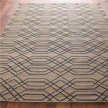 Laced Links Dhurrie Rug: 2 Colors, Shades of Light
