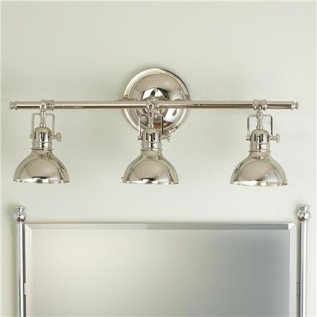 Pullman Bath Light Light Finishes Shades Of Light - Triple sconce bathroom lighting