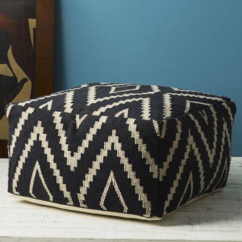 Kite Kilim Floor Pouf - west elm