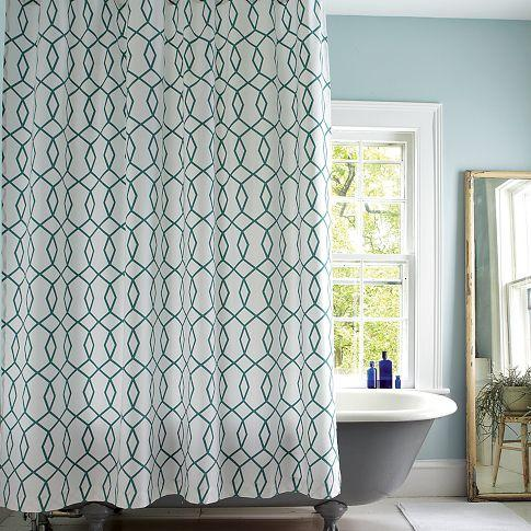Diamond Links Shower Curtain - west elm