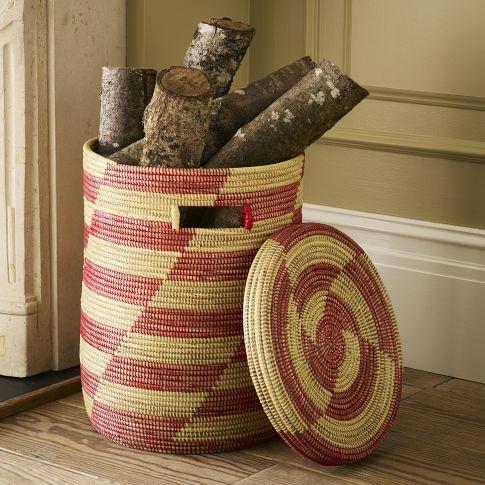 Graphic Lidded Baskets West Elm