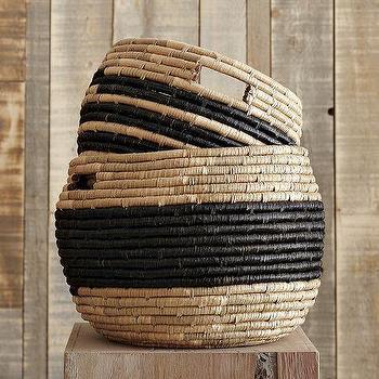 Patterned Baskets, west elm