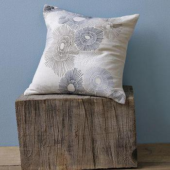Embroidered Sea Urchin Pillow Cover, west elm