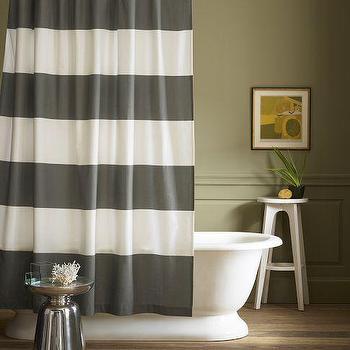 stripe shower curtain west elm