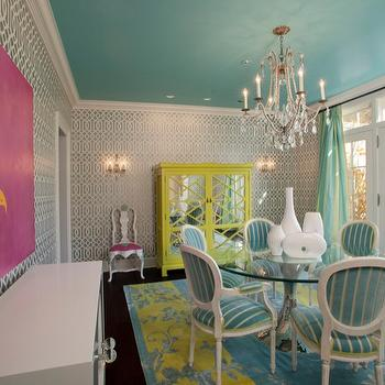 Jacobson Interior Design Turquoise Paint Color