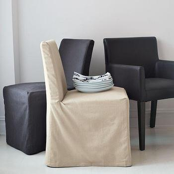 Porter Slipcovered Dining Chairs, west elm