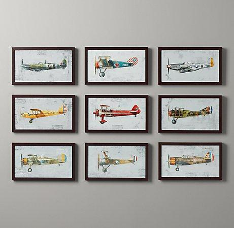 Beau Vintage Prop Plane Art   Wall Art   Restoration Hardware Baby U0026 Child