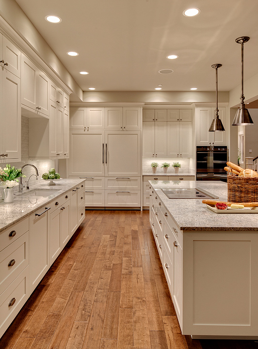 Kashmir White Granite Transitional Kitchen Benjamin Moore