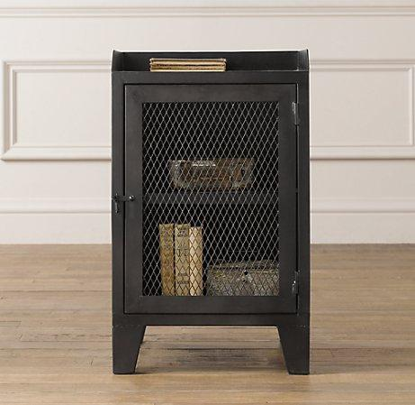 French railroad cabinet bookcases storage for Restoration hardware bedside tables