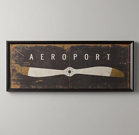Aeroport Art Wall Art Restoration Hardware Baby Amp Child