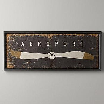 Aeroport Art, Wall Art, Restoration Hardware Baby & Child