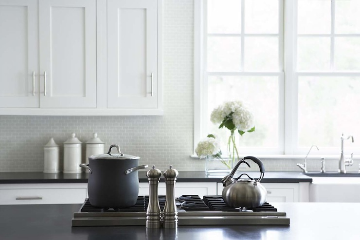 mini brick tile backsplash transitional kitchen linda mcdougald