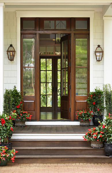 Glass Paned Doors Traditional home exterior Linda McDougald
