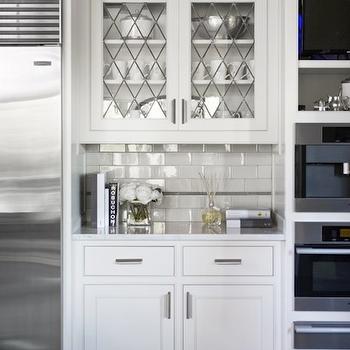 Leaded Glass Kitchen Cabinets Design Ideas