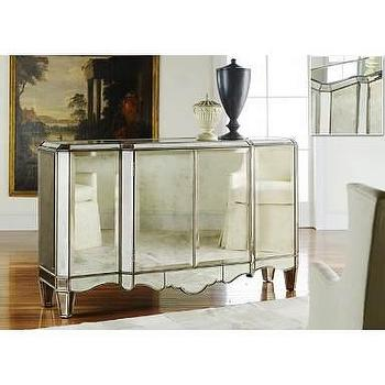 Alice Lane Home Collection Mirrored Sideboard