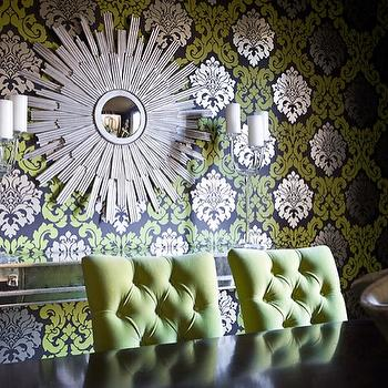 Green Dining Chairs, Contemporary, dining room, EJ Interiors