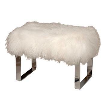 Curly Lamb Fur Amp Chrome Bench Pieces