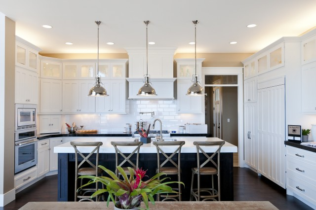 Shaped KItchen Transitional Kitchen Candlelight Homes