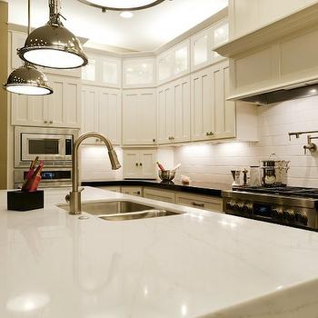 Lit KItchen Cabinets, Transitional, kitchen, Candlelight Homes