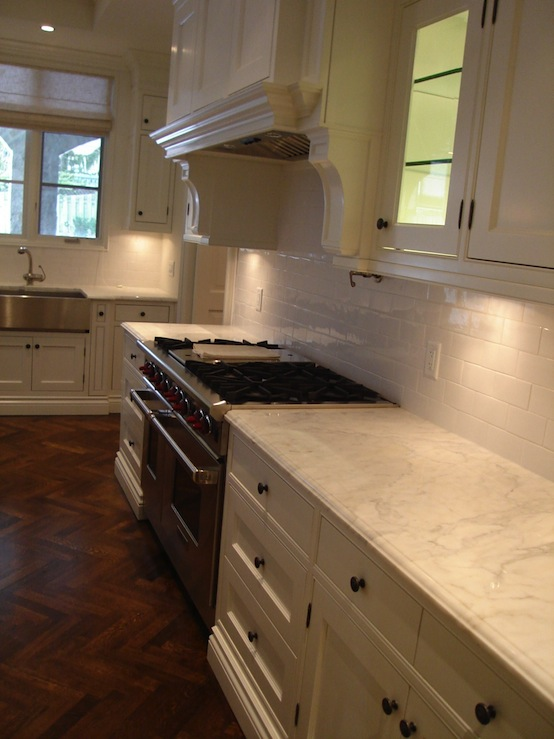 Wood Herringbone Floor Transitional Kitchen Designer