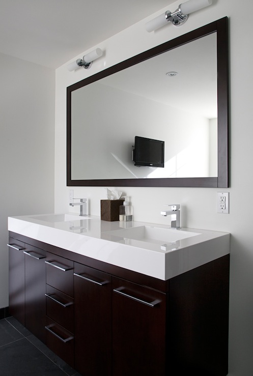 Floating Vanity Modern Bathroom Benjamin Moore Cloud