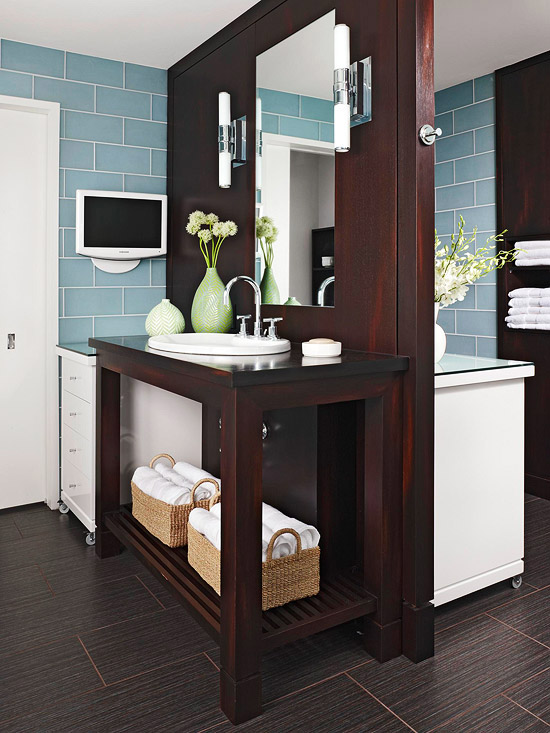 Double Sided Vanity Contemporary Bathroom Bhg