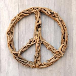 Driftwood Peace Sign Modern Chic Home View Full Size