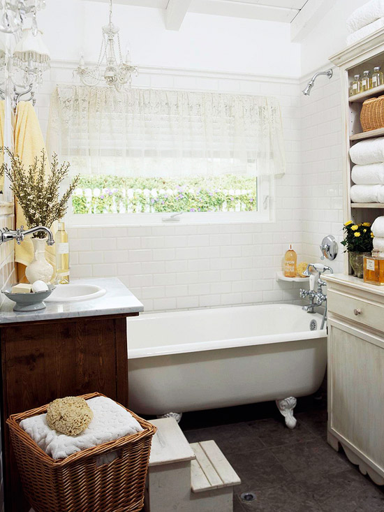 Clawfoot Tub Bathroom Design Cottage Bathroom BHG - Bathroom remodel ideas with clawfoot tub