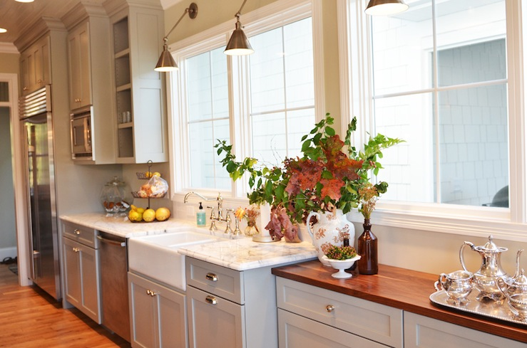 Kitchen Cabinets Boston light grey kitchen cabinets - french - kitchen - benjamin moore